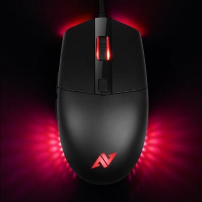 ABKONCORE Herní myš A660 3325, optická, USB, černá