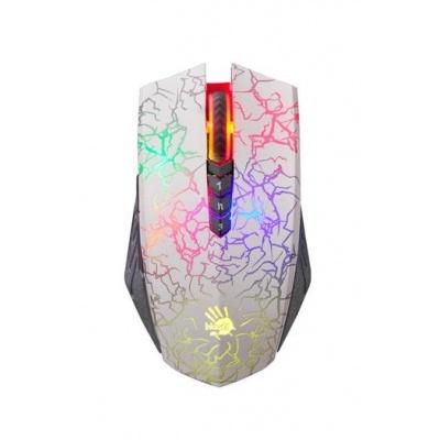 A4tech BLOODY A60 Blazing herní myš, až 4000DPI, V-Track  technologie, 160KB paměť, USB, CORE 3, bílá