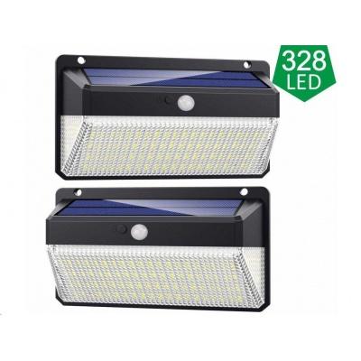 Viking venkovní solární LED světlo M328 s pohybovým senzorem, sada 2 ks