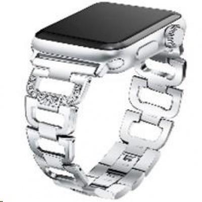 eses kovový článkovitý řemínek 38/40mm stříbrný pro Apple Watch