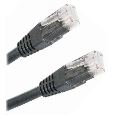 Patch kabel Cat6, UTP - 3m, černý