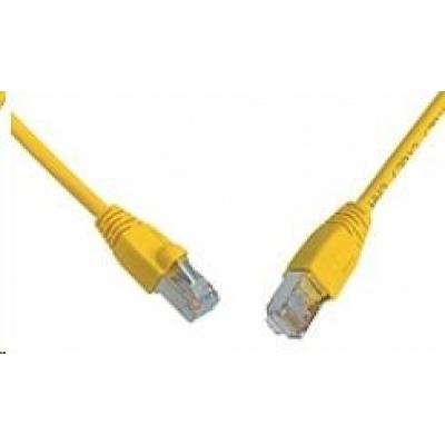 Solarix Patch kabel CAT6 SFTP PVC 0,5m žlutý snag-proof C6-315YE-0,5MB