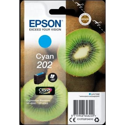 "EPSON ink bar Singlepack ""Kiwi"" Cyan 202 Claria Premium Ink 4,1 ml"