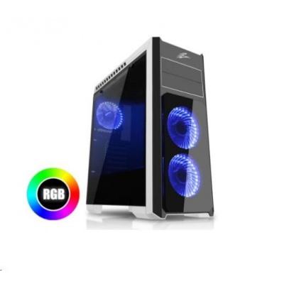 EVOLVEO skříň Ray 4 RGB, 3x RGB ventilátor, průhledná bočnice