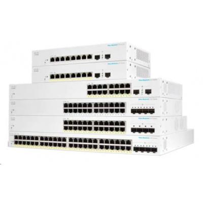 Cisco switch CBS220-24P-4X, 24xGbE RJ45, 4x10GbE SFP+, PoE+, 195W