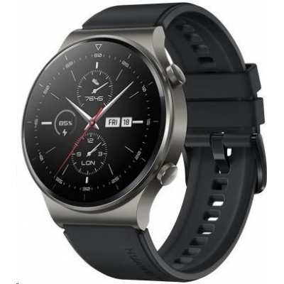 Huawei Watch GT 2 Pro, 46,7 mm, černá / fluoroelastomerový řemínek, černá