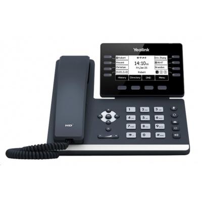 "Yealink SIP-T53 IP telefon, 2,8"" 320x240 LCD, 8 prog tl.,2x10/100/1000, PoE,12xSIP, 1xUSB,bez adaptéru"