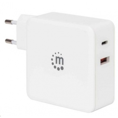 MANHATTAN USB-C nabíječka Power Delivery Wall Charger – 45 W, bílá