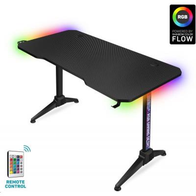 CONNECT IT NEO+ herní stůl s RGB podsvícením, černá