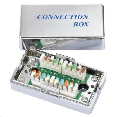 Spojovací box STP Cat5E narážecí, stříbrná