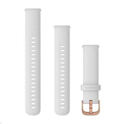 Garmin řemínek Quick Release 18mm, silikonový bílý, růžovozlatá přezka