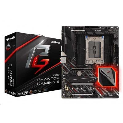 ASRock MB Sc TR4 X399 PHANTOM GAMING 6, AMD X399, 8xDDR4, ATX