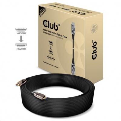 Club3D Kabel aktivní hybridní optický HDMI 2.0 HDR 4K60Hz, (M/M), 30m