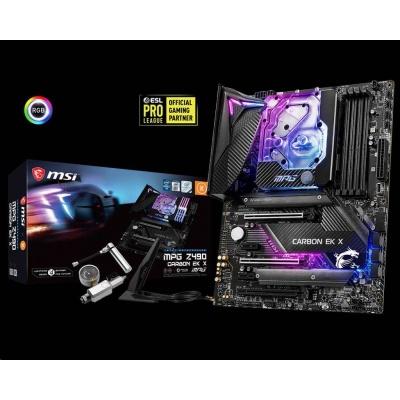 MSI MB Sc LGA1200 MPG Z490 CARBON EK X, Inte Z490, 4xDDR4, VGA, Wi-FI