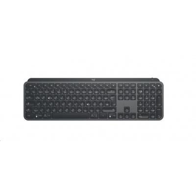 Logitech klávesnice MX Keys Plus with Palm Rest, GRAPHITE, Advanced Wireless Illuminated Keyboard, US, Graphite