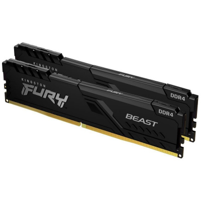 KINGSTON FURY Beast 64GB 2666MHz DDR4 CL16 DIMM (Kit of 2) Black