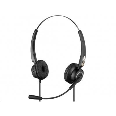 Sandberg náhlavní souprava Pro s mikrofonem, USB, stereo, černá