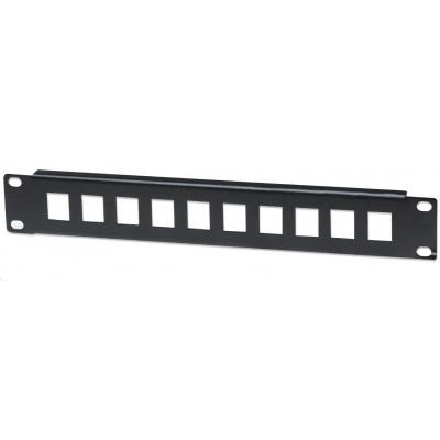 """Intellinet Patch Panel 10"""", prázdný pro 10 portů, 1U, černý"""