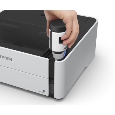 EPSON tiskárna ink EcoTank Mono M1180, A4, 1200x2400dpi, 39ppm, USB, Ethernet, Wi-Fi, Duplex, 3 roky záruka po reg.
