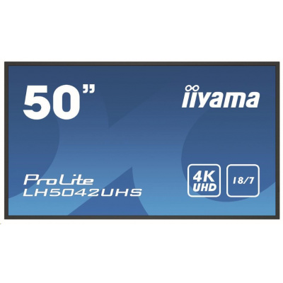 iiyama ProLite LH5042UHS-B3, Android, 4K, black