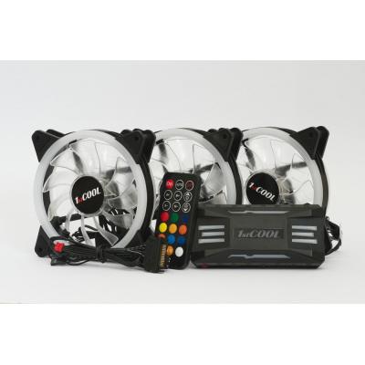1stCOOL Fan KIT AURA EVO 2 ARGB, 3x Dual Ring ventilátor + řadič + dálkový ovladač