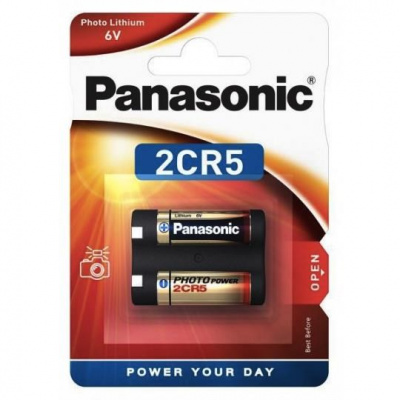 PANASONIC Lithiové - FOTO baterie 2CR-5L/1BP 6V (blistr - 1ks)