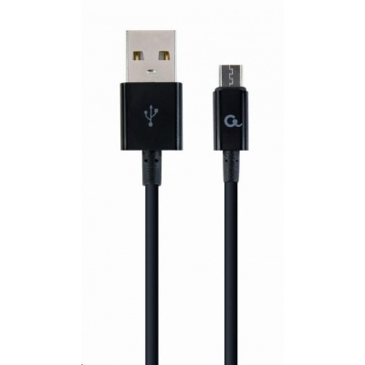 GEMBIRD Kabel CABLEXPERT USB 2.0 AM na MicroUSB kabel (AM/BM), 2m, černý