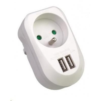 PREMIUMCORD USB nabíjecí adaptér 230V, 2xUSB 5V, maximální proud 3,4A