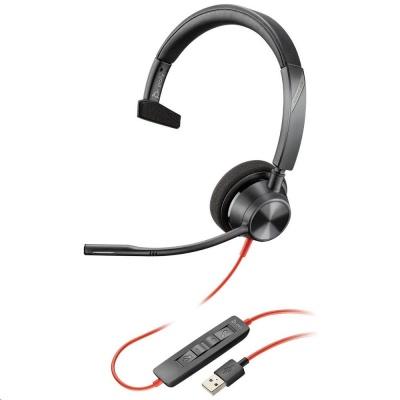 POLY náhlavní souprava BLACKWIRE 3310 MS, USB, mono