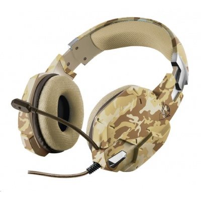 TRUST sluchátka GXT 322D Carus Gaming Headset - desert camo