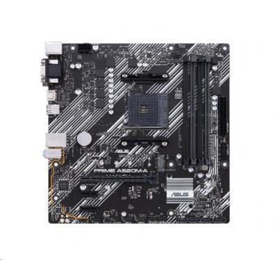 ASUS MB Sc AM4 PRIME A520M-A, AMD A520, 4xDDR4, 1xHDMI, 1xDVI, 1xVGA, mATX