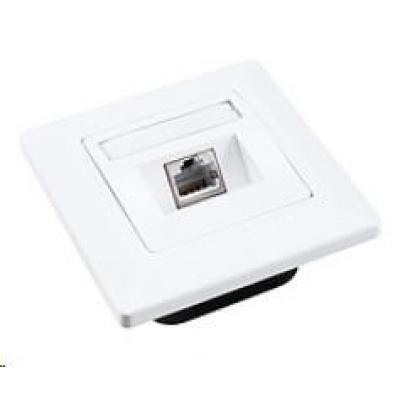 Solarix Zásuvka CAT5E STP 1 x RJ45 pod omítku bílá SX9-1-5E-STP-WH