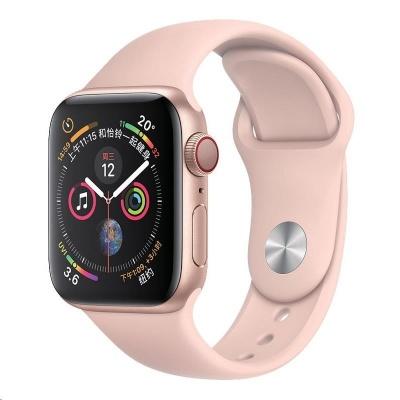 COTEetCI silikonový sportovní náramek pro Apple watch 42 / 44 mm růžový