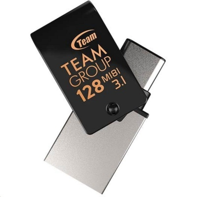 TEAM Flash Disk 128GB M181, USB 3.1 typ A, USB-C, OTG (prachotěsné, vodotěsné, nárazuvzdorné)