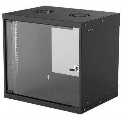 """Intellinet 19"""" BASIC rozvádzač 9U/400mm, čierny, rozložený flatpack"""