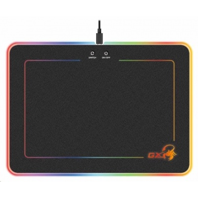GENIUS podložka pod myš GX GAMING GX-Pad 600H RGB/ 350 x 250 x 5,5 mm/ tvrdá/ USB/ RGB podsvícení