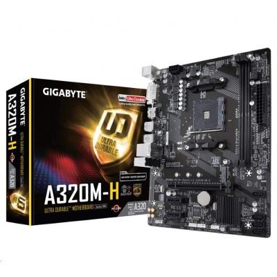 GIGABYTE MB Sc AM4 A320M-H (rev1.1), AMD A320, 2xDDR4, VGA, mATX