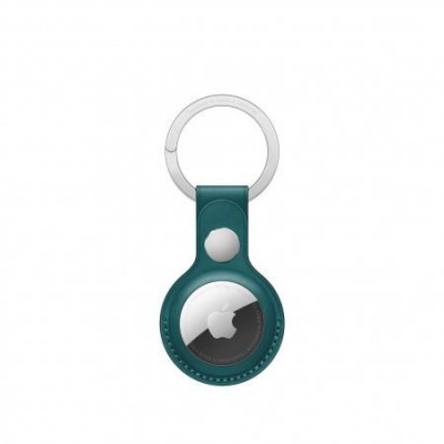 APPLE AirTag Leather Key Ring - Forest Green