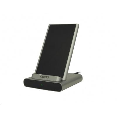 RAPOO nabíjecí stojan XC350 Wireless Charging Stand Silver