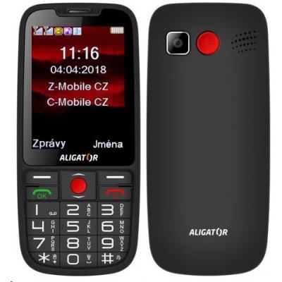 Aligator A890 GPS Senior, Dual SIM, černá
