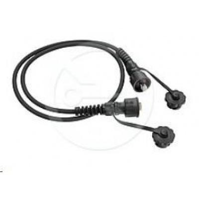 Solarix Průmyslový patch kabel CAT6 FTP 2m černý IP67 C6-IN-315BK-2MB