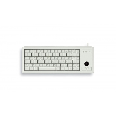 CHERRY klávesnice G84-4400, trackball, ultralehká, PS/2, EU, šedá