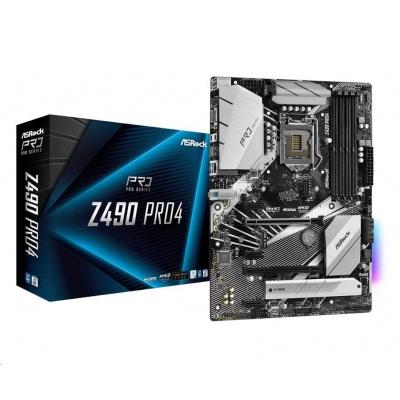 ASRock MB Sc LGA1200 Z490 PRO4, Intel Z490, 4xDDR4, VGA