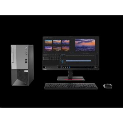 LENOVO PC V50t Tower - Pentium G6400,4GB,128SSD,DVD,HDMI,VGA,DP,kl.+mys,W10P,3r onsite