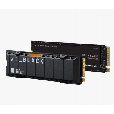 WD BLACK SSD NVMe 500GB PCIe SN850,Gen4, (R:7000, W:4100MB/s)+Chladič