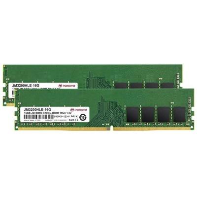 DIMM DDR4 32GB KIT (16GB*2) 3200Mhz TRANSCEND U-DIMM 1Rx8 2Gx8 CL22 1.2V