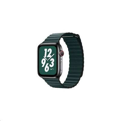 COTEetCI kožený magnetický řemínek Loop Band pro Apple Watch 38 / 40mm tmavě zelený
