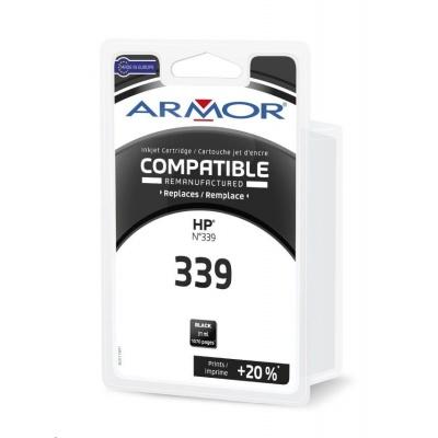 ARMOR ink-jet pre HP Deskjet 5740, 6520, 6540, 6620, 6830, 6840, 9800, Office jet 7210, 7310, 7410, Photosmart 8150, 8450,8x50, PSC 2600, 2610, 2700, 2710 , 910 strán, C8767E, čierná/black (HP 339)