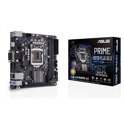 ASUS MB Sc LGA1151 PRIME H310I-PLUS R2.0/CSM (SW + PUR RMA), Intel H310, 2xDDR4, VGA, mini-ITX