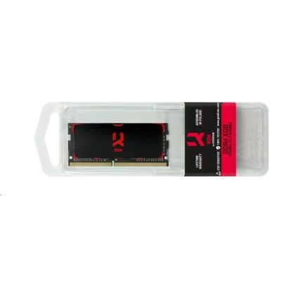 SODIMM DDR4 4GB 2400MHz CL15 SR GOODRAM IRDM, black